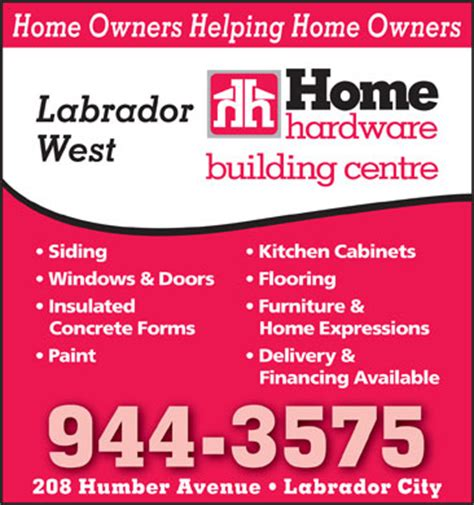 home hardware building centre 204 humphrey rd labrador
