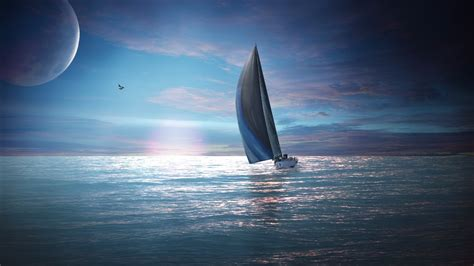 on a boat sailing sailing boat wallpapers hd wallpapers id 11261