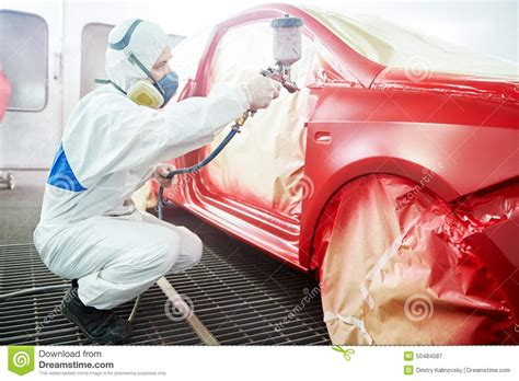 Auto Painter by Car Painting Technology Stock Image Image Of Painter 50484587