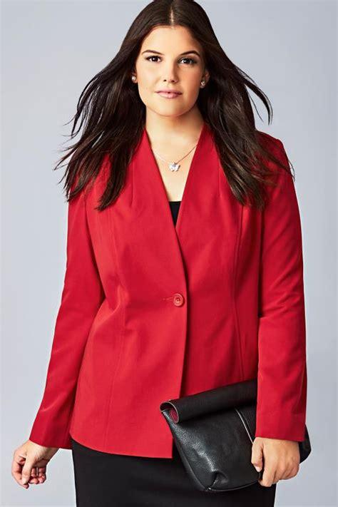Jacket Semi Kulit 26 semi fitted fully lined single button blazer jacket jacket plus size 16 to 32