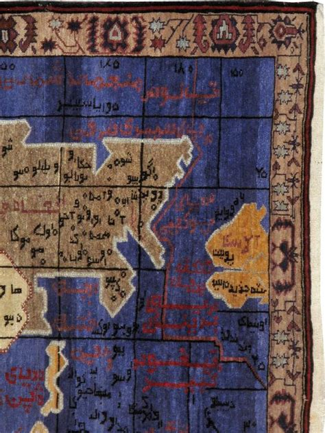 vintage map rug vintage afghan map rug for sale at 1stdibs