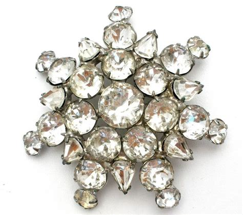 Vintage Wedding Hair Brooches by Clear Rhinestone Brooch Vintage Pin Hair Fashion Jewelry