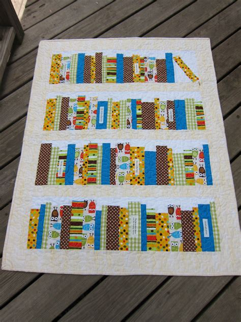 bookshelf baby quilt sewing projects burdastyle