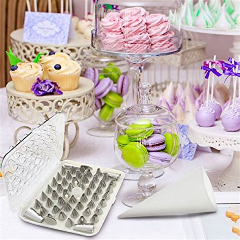 home cake decorating supply bakelux cake decorating tips set 56 piece professional