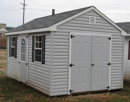 buying  vinyl storage shed