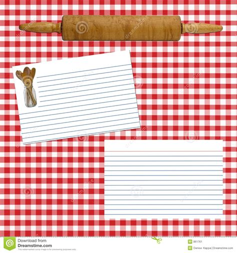 Red Wooden Kitchen - recipe layout page stock image image of page utensils 861761