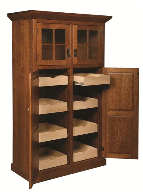 Oak Kitchen Pantry Storage Cabinet Home Furniture Design Storage Kitchen Cabinets
