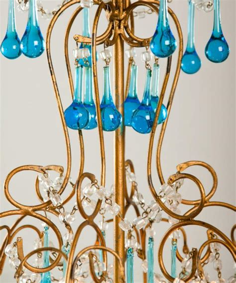 kronleuchter italienisch italienisch kronleuchter mit aquamarin farbigen