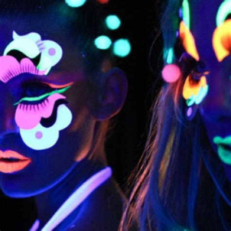 glow in the paint makeup neon makeup i want a black light glow in the