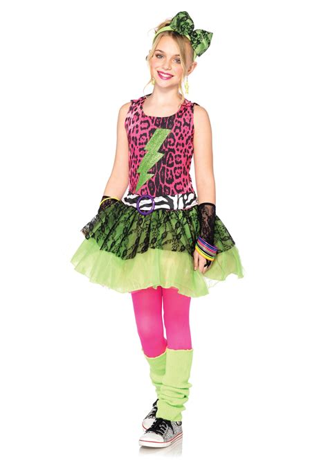 themes for children s clothing child totally 80s amy costume halloween costumes
