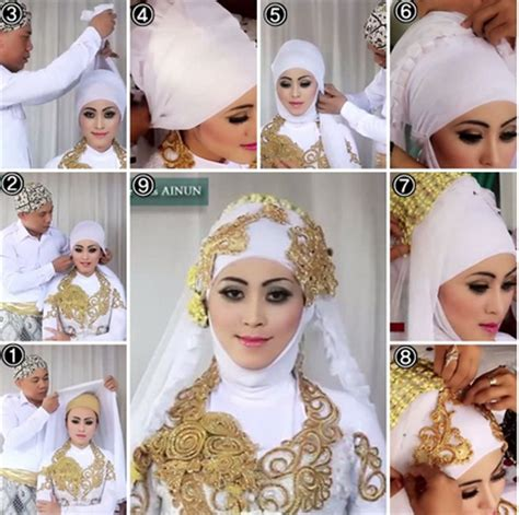 tutorial hijab untuk gaun pengantin video tutorial hijab modern untuk pengantin terbaru 2015
