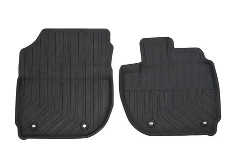 genuine honda jazz front lipped rubber mats cvt transmission  onwards  motor parts