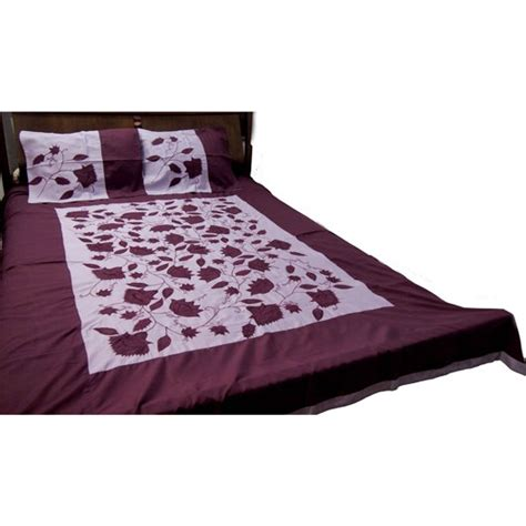 Bed Cover 03 floral applique bed cover 03