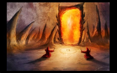 painting drawing gate of oblivion by psiipilehto on deviantart