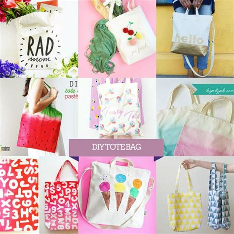 best diy up decorating a blank canvas tote bag
