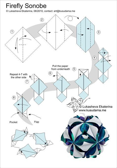 Origami Diagrams - kusudama diagrams related keywords kusudama
