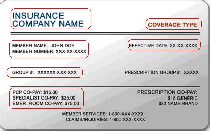 insurance card template policy number healthcareisbusiness march 2012