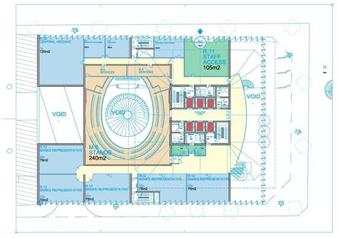 Floor Plan For Office Building gallery of tehran stock exchange competition entry hans