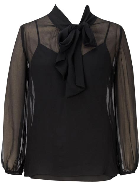 Blouse Vale coast sheer silk stacey blouse lace henley blouse