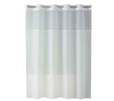 hookless shower curtain with window hookless plainweave white sheer window shower curtain