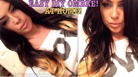 diy ombre hair for dark brunettes step by step diy ombre hair tutorial dark to light at home damage