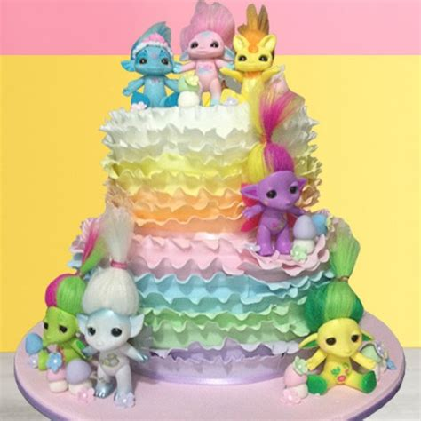 Bday Party Decorations At Home by Rainbow Ruffle Birthday Cake