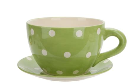 Oversized Teacup Planter by In A Teacup Dont Let Snowfall Stress You Out Order
