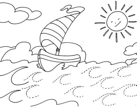 dibujo barco con olas olas del mar dibujalia dibujos para colorear n 250 meros