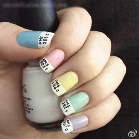 easy nail art with one color 2015夏季简单美甲图片大全 美甲图片 屈阿零可爱屋
