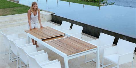 tavoli x esterno tavolo allungabile da giardino in alluminio e legno baia