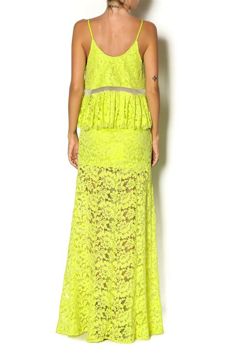 lime green lace skirt from new york by just b