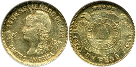 Hn Gold 1 Peso 1888 1922 Honduras Gold Prices Values Km 56 Fr 7