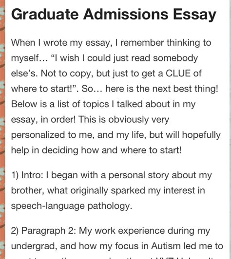 Best Phd Personal Essay Advice by Graduate Admissions Essay Advice Students And School
