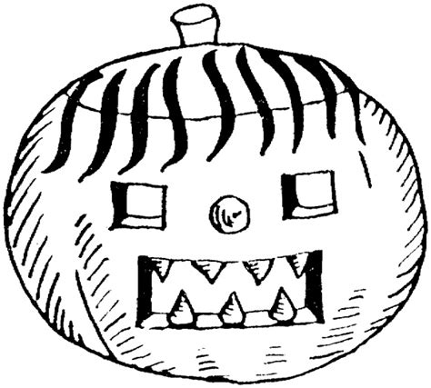 free coloring pages of pumpkin face