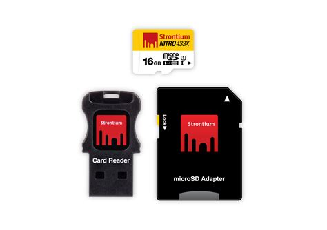 Strontium 16 Gb Nitro Lite 65 Mb S Micro Sdhc Card Class 10 Uhs 1 Us strontium 16gb nitro micro sd card free usb card reader
