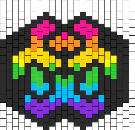rainbow biohazard mask bead pattern kandi patterns and