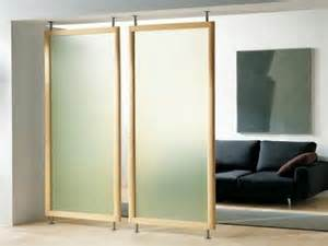 Hanging Room Divider Panels Sliding Doors As Room Dividers More Privacy In The Small Apartment Interior Design Ideas
