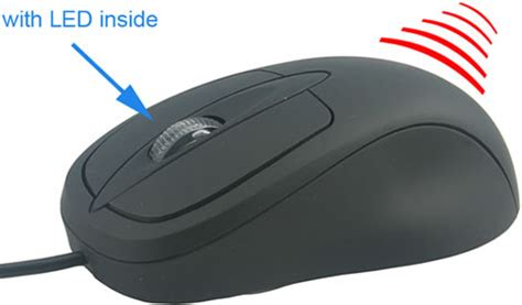 Mouse Infrared warm up one with an infrared heated mouse ohgizmo