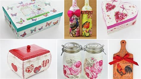 easy decoupage ideas 20 ideas decoupage part 2 fast easy tutorials diy