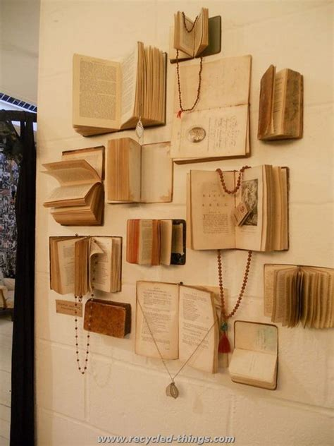diy projects made with books recycled things