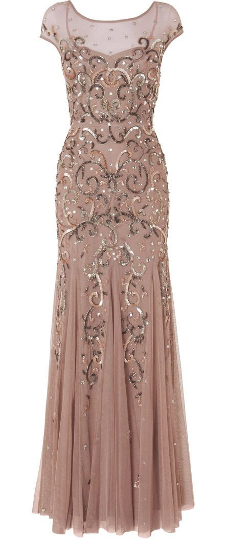 beaded gown beaded blush gown
