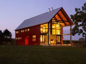pole barn home exterior rustic with light wood outdoor