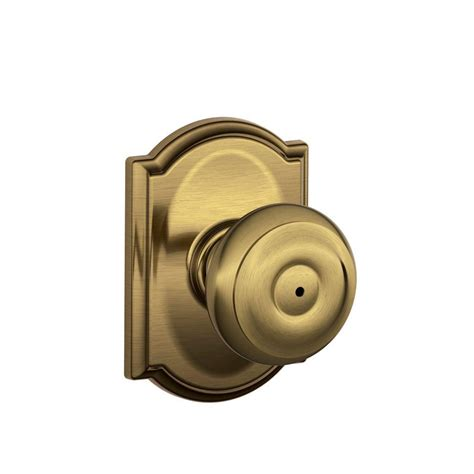 bed knobs schlage georgian antique brass bed and bath knob f40 geo 609 the home depot