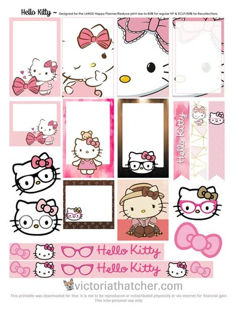 free printable hello kitty planner free planner hello kitty and planners on pinterest