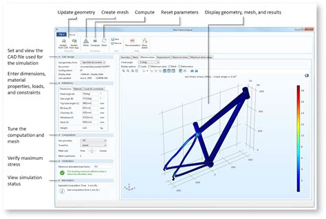 design bike frame software how to analyze your solidworks 174 designs with an app