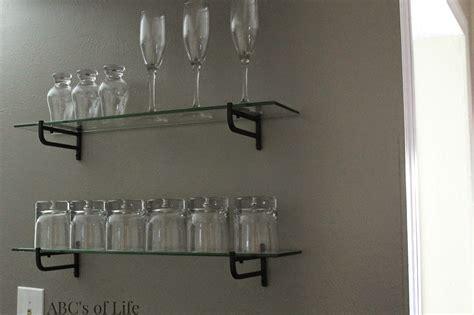 bar shelves for glasses 15 ideas of floating glass shelves for bar
