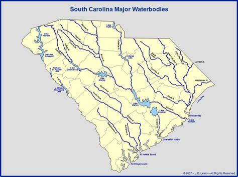 map of carolina rivers and creeks carolina south carolina rivers lakes