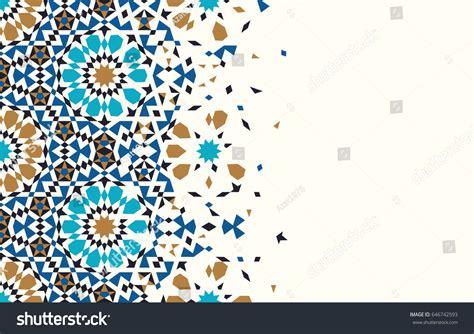 abstract pattern religious background of ramadan morocco disintegration template islamic mosaic design