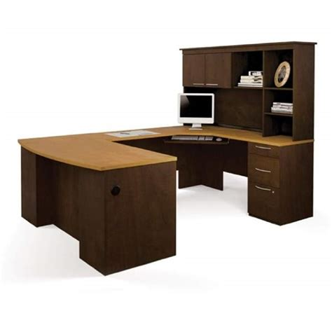 bestar u shaped desk bestar 44430 u shaped desk with hutch