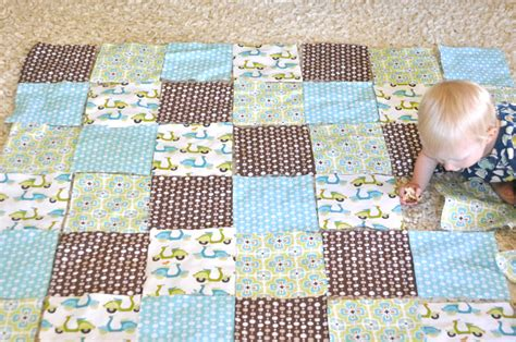 How To Make A Quilt Pattern From A Photo by Simple Baby Quilt Tutorial Monaluna Organic Fabric